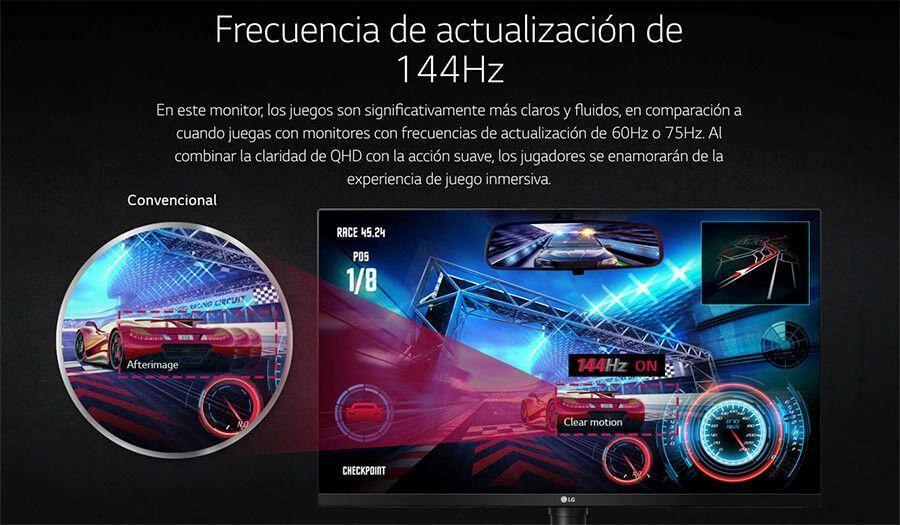 opiniones monitor gaming LG 32gk850g-b